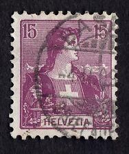 Switzerland: SG230, 15c mauve issued in 1907; fine used