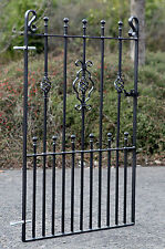 4ft High Ornate Wrought Iron Metal Garden Entry Gate