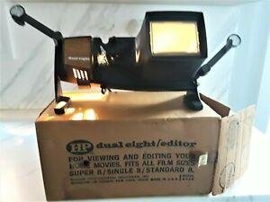 Vintage HP Dual 8 Editor/Viewer Super 8mm, Standard 8mm Film Model #436