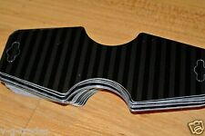 Lot 200 Fold Over Self Adhesive black stripe Necklace Headbands Merchandise Tags