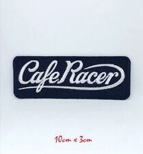 Cafe Racer logo Iron on/Sew on Embroidered Patch applique #140