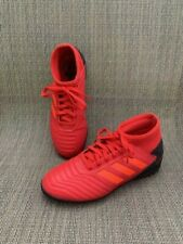 Adidas Youth Predator 19.3 Turf Indoor Soccer Cleats Size 2.5 Red