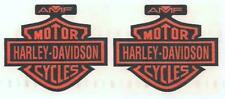 HARLEY DAVIDSON - 1980-82 FX & FXB ORANGE BAR & SHIELD W/AMF GAS TANK DECALS