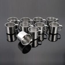 Drinking Tumbler Pint Metal Coffee Mug Stainless Steel Camping Portable Cup
