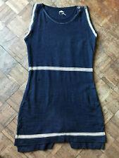 Vintage 20s Blue Mens Wool Swimsuit Antique Bathing Suit