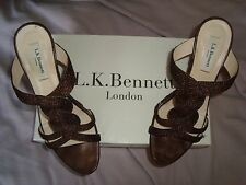 L.K.Bennett  UK 5 EU 38 BRONZE Wedge  RRP £110.00