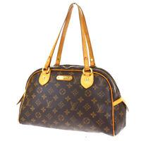 Authentic LOUIS VUITTON Montorgueil PM Tote Shoulder Bag Monogram M95565 86SB286