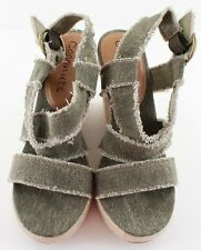 Coconuts Avery Green Strappy Espadrille Platform Wedges Sandal Heels Size 10 NWD
