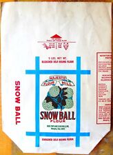 MEMPHIS FLOUR SACK: MAJESTIC FLOUR MILL SNOW BALL FLOUR (5-pound, paper)