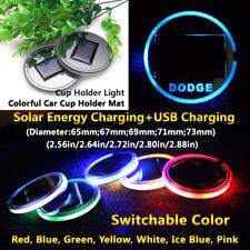 1pcs Solar Energy Coaster Car LED Light Lamp Accessories For Dodge Lights Parts