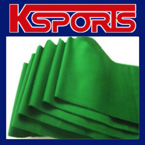 POOL SNOOKER TABLE CLOTH FELT SINGLE-SIDED FITS 7FT/8FT - GREEN / BLUE - INCLUDE