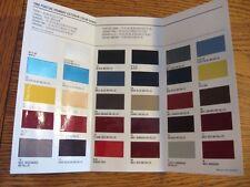 1988 Pontiac Exterior Colors Brochure Firebird Grand Am LeMans 6000 Original