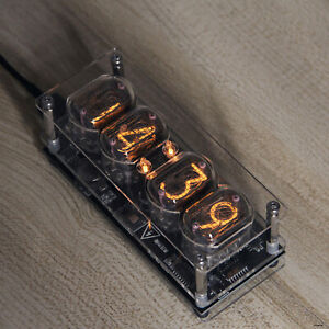 IN-12 Glow Tube Clock Fluorescent Nixie Clock Colors Light Display Time Date