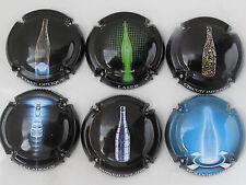 Série de 6   caps. de Champagne Générique Bouteilles n° 869 0 869e