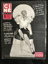 Ciné Revue 8/07/1955; Ginger Roger/ Birgitte Bardot/ Jean Gabin/ Ciné Italien