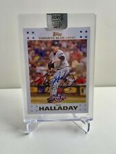 Roy Halladay Topps 2017 Archives Signature #1/1 Opening Day 2007 On-Card Auto