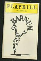 BROADWAY PLAYBILL - March 1981 - BARNUM - Jim Dale / Catherine Cox  b2