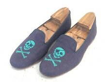 Mens Stubbs and Wootton Formal Slippers / Velvet Slippers. Blue.Size 9 to 10 UK