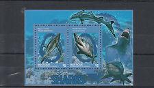 Mustique Grenadines St Vincent 2014 MNH Sharks 2v S/S II Marine Fish Mako