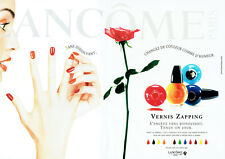Publicité Advertising 117  1998    Lancome  (2p) vernis ongles  &  Inès Sastre