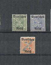 Deutsches Reich 1920, Michelnrn: Dienst ex 57-64 *, ungebraucht, Michelwert € 7