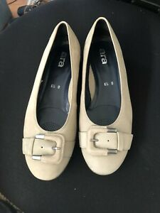 """Ladies Shoes""""Ara"""" Beige Suede Leather Slip On Shoes Size 9 RRP$229.00"""
