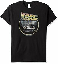 Back to The Future Men's Circle Logo Tee Shirt Black Large