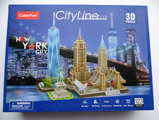 3D Puzzle Cityline New York Cubic Fun Chrysler World Trade Empire City Line
