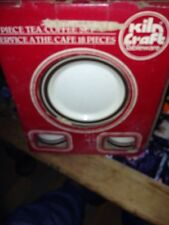 NEW KILN CRAFT 18 Piece TEA/COFFEE SET Cup Saucer Plate