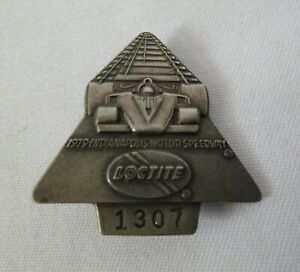 1979 Indianapolis 500 LocTite Silver #1307 Pit Badge Rick Mears Penske Racing