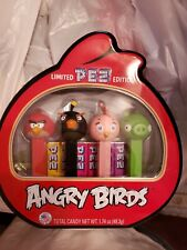 New Angry Birds Pez 4 Pack In Metal Tin Limited Edition 2014
