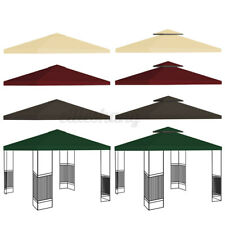 10X10′ 1/2Tier Replacement Canopy Tent Top Patio Garden Gazebo Sunshade UV Cover