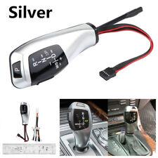 For BMW E46 E60 E61 Silver Modified LED LHD Auto Gear Shift Knob Shifter Lever