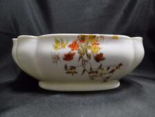 """Schwalb Brothers (BSM), Coral Flowers on White: Oval Serving Bowl, 9 1/4"""""""