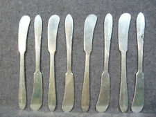 8 Sterling Butter Knives by National Silver Co - Overture Pattern - No Monogram