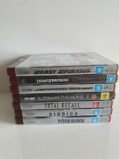 Bundle of 7 HD DVD MOVIES - Transformers, Fast Furious, Superman, Total Recall