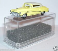 MICRO PRALINE HO 1/87 BUICK 50 CABRIOLET FERME JAUNE INTERIEUR CREME IN BOX