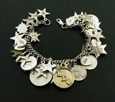 Vintage SORORITY Sterling Silver Charms 41 Bracelet BETA SIGMA PHI 1965-1971
