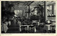 Bad Salzuflen AK ~1940 Kurhaus Terrasse Innenraum Möbel Restaurant Inneres Lokal