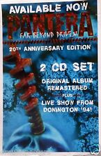 "Pantera ""Far Beyong Driven - 20th Anniv."" U.S. Promo Poster - Heavy Metal Music"