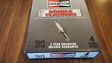 BOX SET OF 4 CHAMPION # 7013 DOUBLE PLATINUM SPARK PLUGS