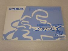 GENUINE YAMAHA GERMAN AEROX YQ50 - YQ50L OWNERS MANUAL 2009