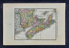 1885 McNally Map - Nova Scotia New Brunswick Halifax Frederickton Fundy - Canada