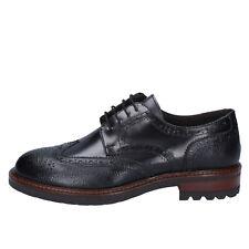 scarpe uomo J. BREITLIN 43 elegante nero pelle BX163-43