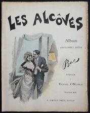 """""""LES ALCOVES"""" par Ferdinand BAC édition Simonis 1895 humour érotisme"""