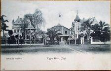 Buenos Aires, Argentina 1905 Postcard: Tigre Boat Club - Yacht Club