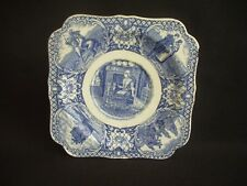 CROWN DUCAL COLONIAL TIMES BLUE -TEA/SIDE PLATE