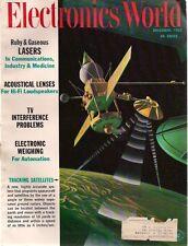 ELECTRONICS WORLD Magazine December 1962 Lasers