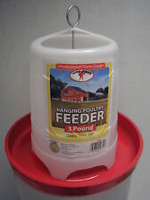 Hanging Poultry Feeder - 3 Pound Capacity - Little Giant - Red - PHF3
