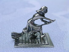 Dutch Continental 835 Silver Witch On The Broom Miniature Figurine